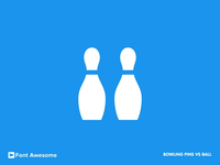 #12 bowling pins vs ball icon animation (Font Awesome series)