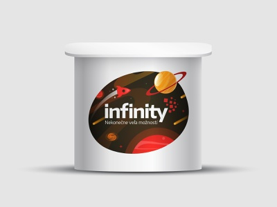 Infinity Reklama - Promo Table illustration cover print promotional logo brand branding design