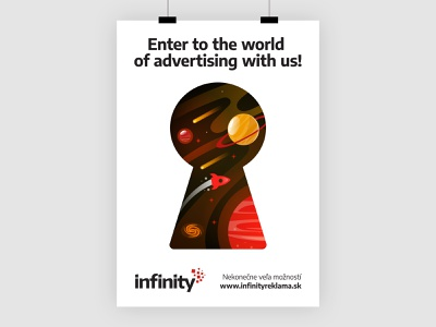 Infinity Reklama - Promo illustration promotional advertising brand flat vector creative minimal branding design