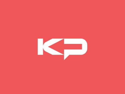 KP - Logo minimal movement arrow symbol icon brand logo flat vector design branding