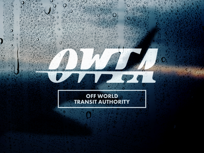 Off-World Transit Authority world authority transit concept outer rocket nasa texture wordmark serif future retro travel space branding logo typography design graphic