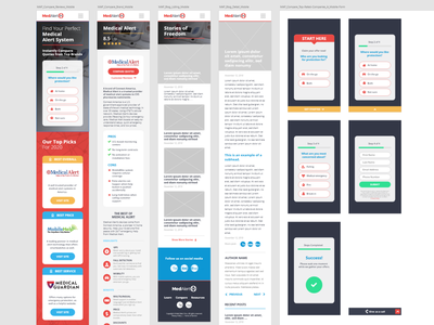 Med-Alert Pros Mobile Overview williams neil medical vertical buttons form flow overview branding experience interface user senior mobile web xd ux ui design graphic