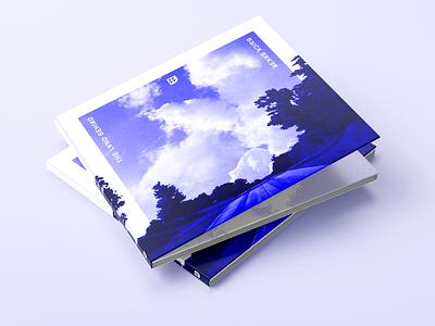 Album Art for The Land Behind lsdj compact disc trifold case cd blue monochrome typography logo mockup photography digital art digital cover chiptune album design graphic branding