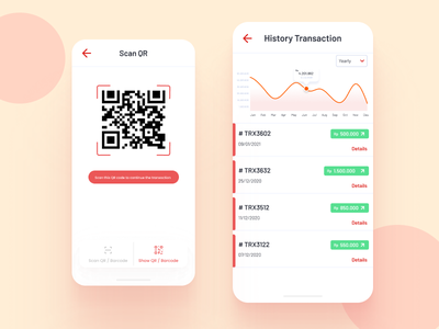 Wallet App Design simple simple design ui minimal flat design app