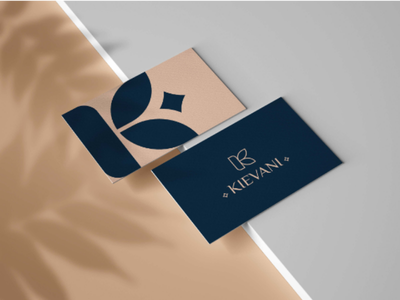 Kievni card design luxary elegant k card abstract