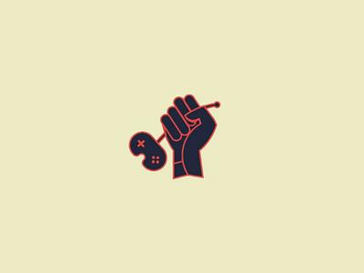 gaming iconic logo game gaming remote hand minimal