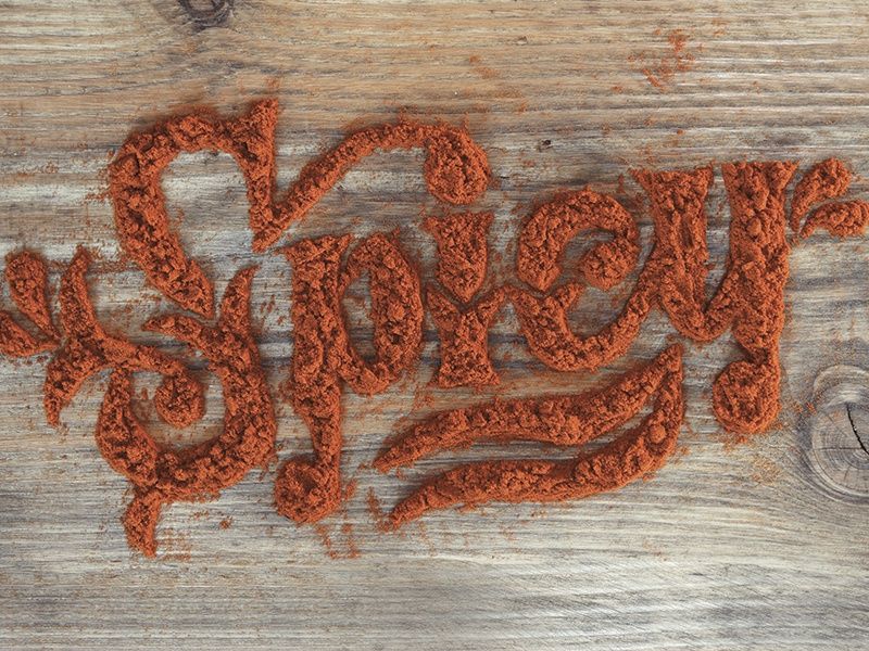 Spicy food lettering lettering