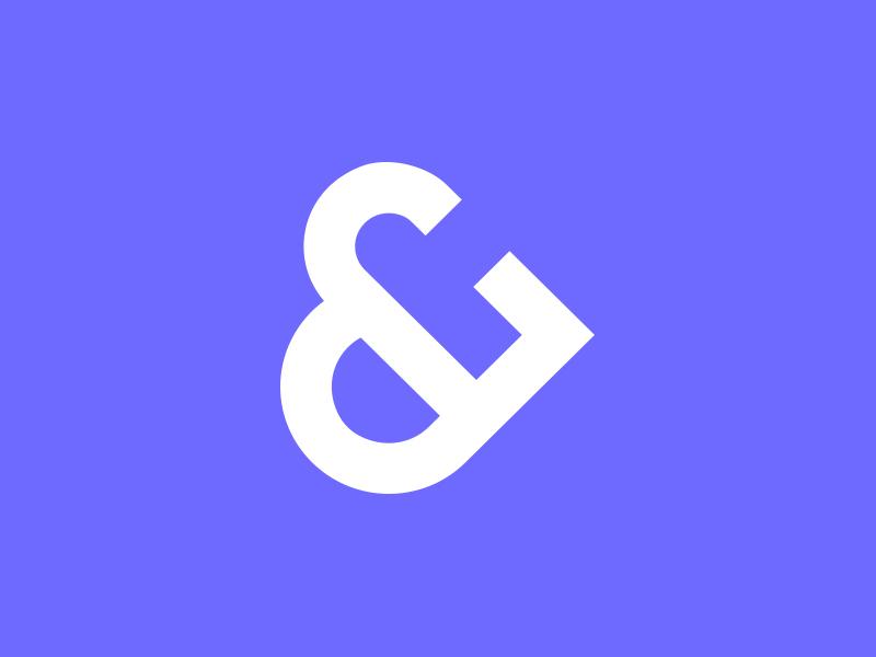 & meets ❤ ampersand heart monogram branding logo