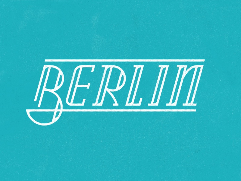 Berlin vintage lettering custom type logo germany berlin branding