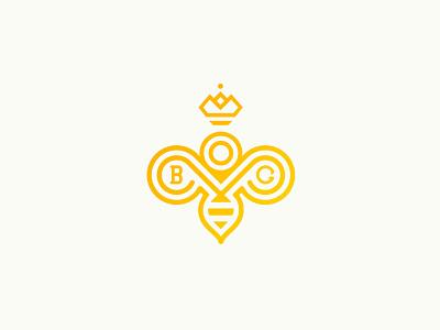 Berliner Bärengold crown queen honey bee logo branding