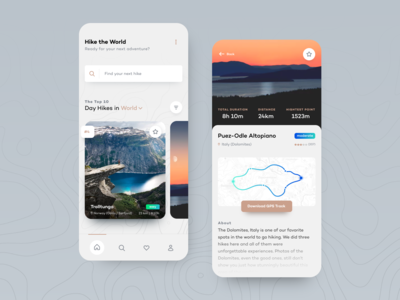 Hike the World — App Concept