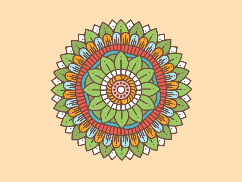 Doodle Flower flowers doole doodleart logo sketch vector illustration flat
