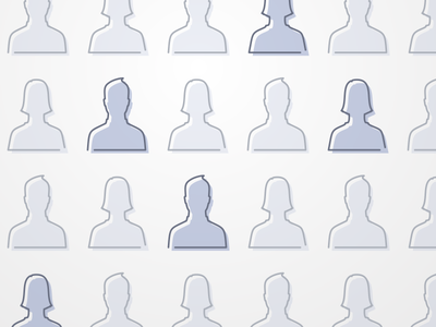 People iconography people facebook offset muted blue