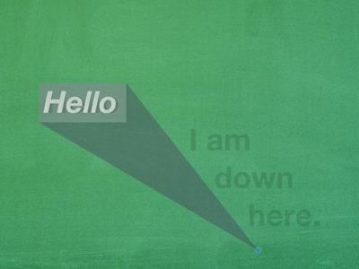 Just a speck ipad inkpad green hello