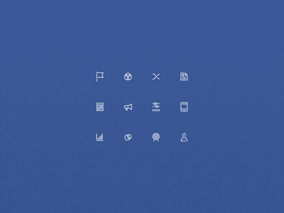 Little things line art blue icons