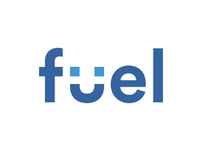 Fuel facebook smile wordmark logo fuel