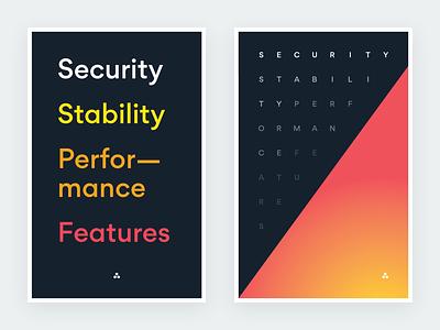 Engineering Priorities posters gradient typography propaganda prioriries engineering posters asana