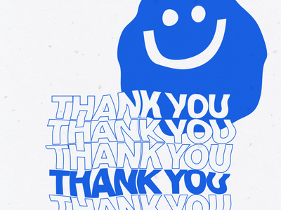 Have A Nice Day thank you distort warp bag poster riso