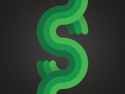 $ green geometric circles money