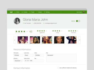 Profile page profile page web app
