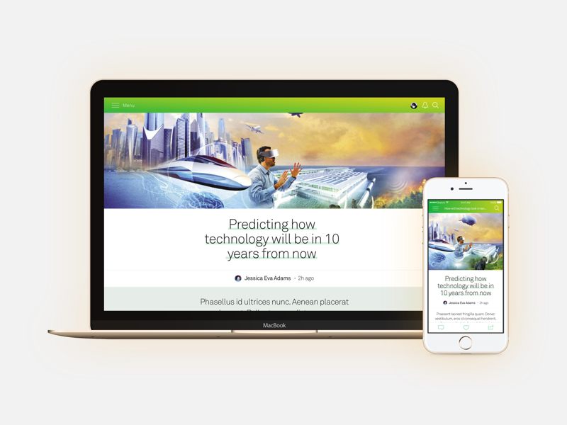 Responsive Article Page