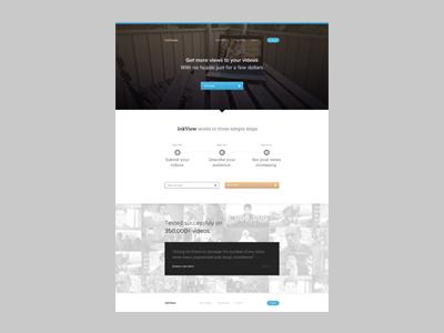 Snapshot web homepage landing