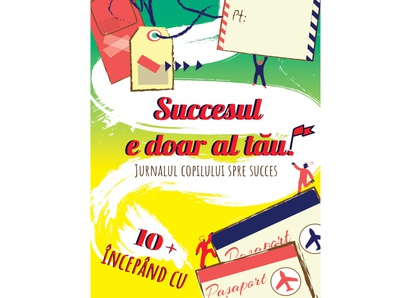 "Cover book - ""The child's journal of success""  - coloranda.com branding illustrator digital illustration design graphicdesign concept kids book kid journey succes colorful teenagers book teens cover book cover design"