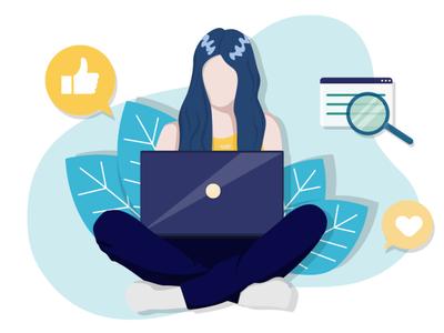 Girl&laptop