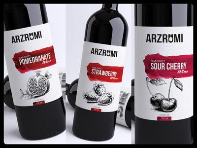 """Wine label design """"Arzrumi"""""""