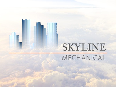Skyline Mechanical Logo logo design skyline illustrator vector design logo