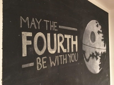 The Death Star star wars day may the fourth star wars death star hand lettering hand drawn handdrawn lettering chalkboard chalk