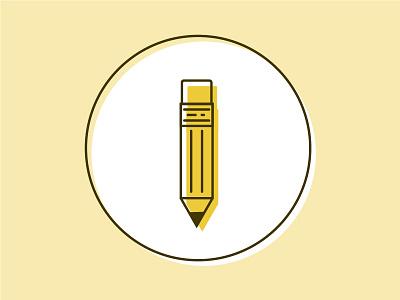 Yellow Pencil Icon illustrator illustration icon school subject pencil yellow pencil yellow