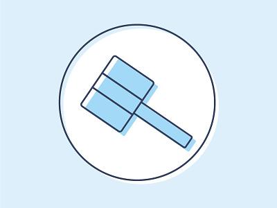 Gavel Icon gavel law social justice school subject illustrator illustration icon