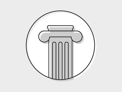 Pillar/History Icon greek history pillar school subject illustrator illustration icon