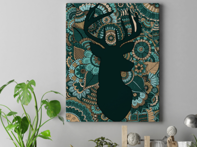 Oh Deer Acrylic Painting