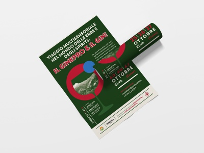Poster italian design geometry red green mountain spirit flat  design illustration vintage design typography poster design