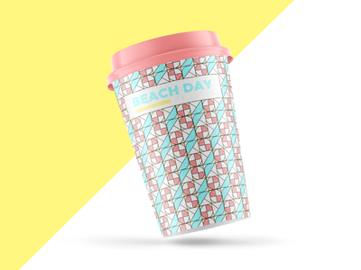Weekly warm-up: Geometric pattern 2 geometric design geometric cup illustrations beach summer colorful print pattern design packaging pattern dribbble weeklywarmup vector design branding illustration
