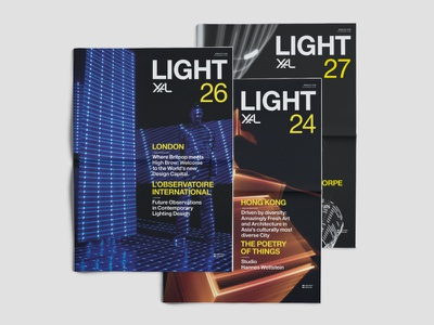 XAL Light Magazine Redesign artdirection graphicdesign company typography photography modern magazine layout editorial design editorial branding