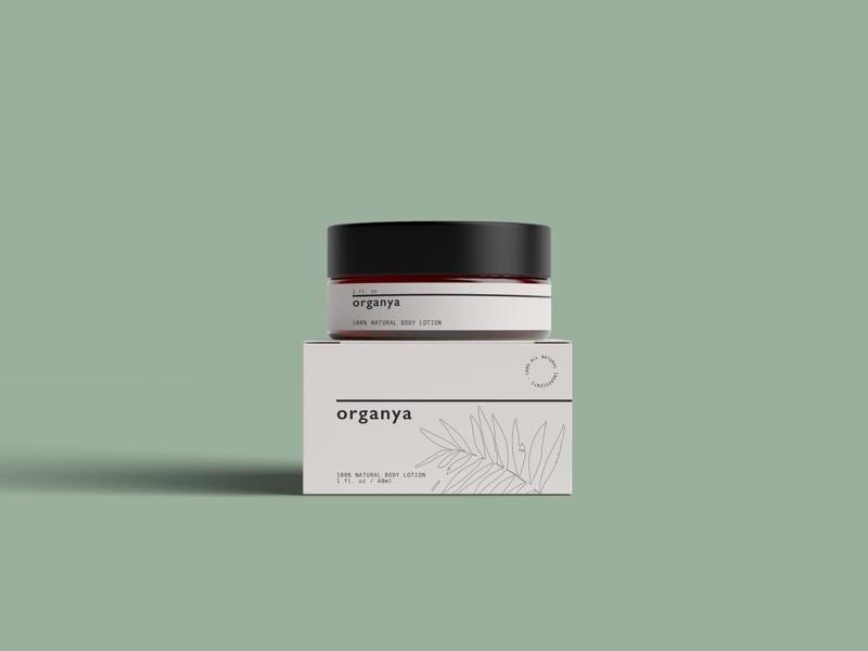 Organya cosmetics brand identity logo graphic design branding packaging
