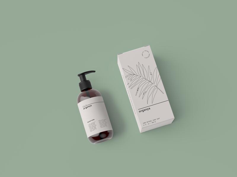 Organya cosmetics minimal graphic design branding packaging design