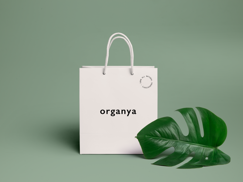 Organya cosmetics graphic design logo brand identity branding packaging minimal