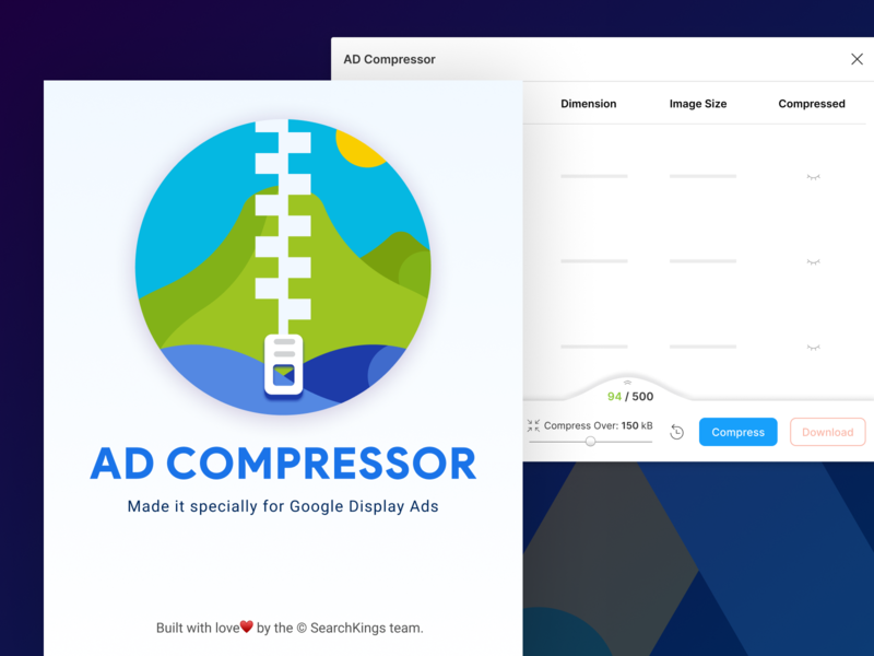 AD Compressor - Figma Plugin flat ux layout app vector ui illustration tinify tinypng react icon badge logo plugin design system figma