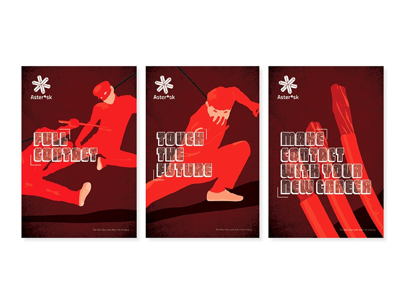 Aster*sk Prop Poster future flighting action illustration layout film poster design