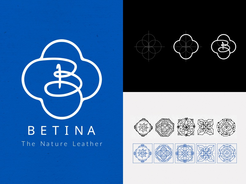 Betina Logo Design tile patterns materials eco-friendly logo guide branding product cork portugal