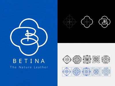 Betina Logo Design tile patterns materials eco-friendly logo guide branding product cork portugal