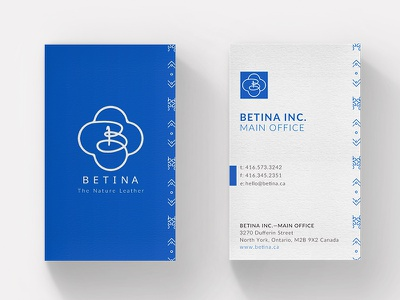 Betina Business Card design layout card business stationery