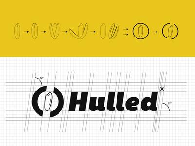 Hulled - Rice Packaging Brand packaging logo branding grid type typography design graphic