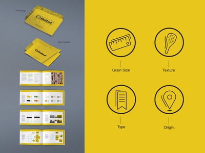 Hulled - Brand Guideline & Process Book type layout graphic design icons branding