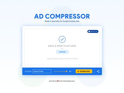 Ad Compressor angular material google ads website figma progressive web app