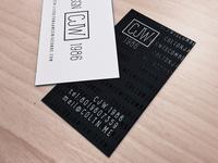 CJW Brand Business Cards